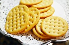 圆的薄脆饼干 免版税图库摄影