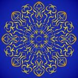 圆的装饰品样式 皇族释放例证