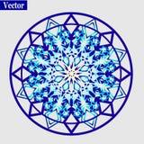 圆的装饰品样式 免版税库存照片
