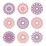 圆的装饰品的汇集 免版税库存图片