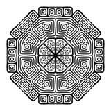 圆的装饰品设计,种族样式 免版税库存照片