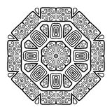圆的装饰品设计,种族样式 库存照片