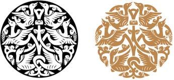 圆的装饰品 免版税库存图片