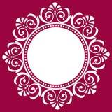 圆的装饰框架,传染媒介例证 免版税库存照片