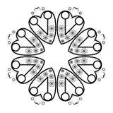 圆的装饰框架 免版税图库摄影