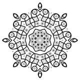 圆的装饰框架 免版税库存照片