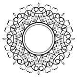 圆的装饰框架 库存图片
