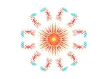 圆的装饰设计 免版税库存图片