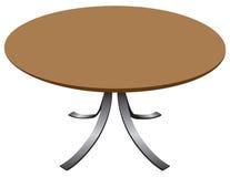 圆的设计师桌 皇族释放例证