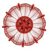 圆的设计星形 库存例证