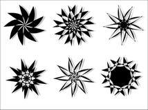 圆的设计花卉向量 库存照片