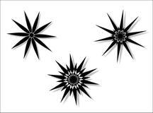圆的设计花卉向量 免版税库存照片