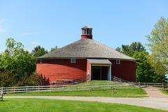 圆的谷仓, Shelburne,佛蒙特,美国 库存图片