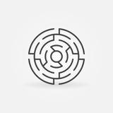 圆的迷宫传染媒介象 库存例证