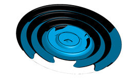 圆的通知 库存例证