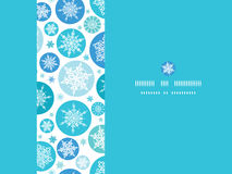 圆的雪花水平的无缝的样式 免版税库存照片