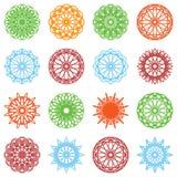 圆的颜色装饰品集合 库存图片