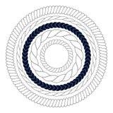 圆的绳索元素,框架,边界 皇族释放例证