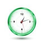 圆的绿色时钟 免版税图库摄影