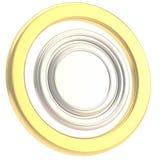 圆的copyspase来回查出的牌照 免版税库存照片