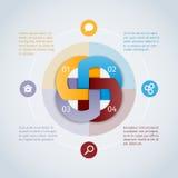 圆的infographics概念 免版税库存照片