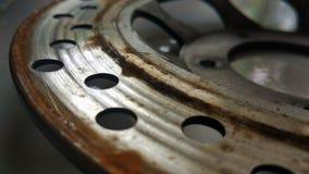 圆盘制动器的摩擦 库存图片