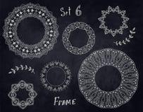 圆花卉设计 库存图片
