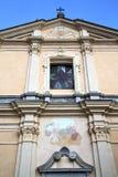 圆花窗老somma lombardo的意大利伦巴第 图库摄影