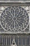 圆花窗Notre Dame 免版税库存照片