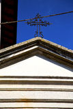 圆花窗sumirago瓦片的意大利伦巴第 免版税图库摄影