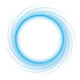 圆蓝色的波浪 免版税库存图片