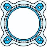 圆边界框架位置字块 库存图片