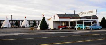 圆锥形小屋汽车旅馆, holbrook,亚利桑那 免版税库存照片