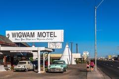 圆锥形小屋汽车旅馆, Holbrook 免版税图库摄影