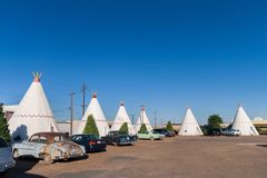 圆锥形小屋汽车旅馆, Holbrook 免版税库存图片