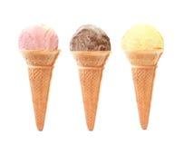 圆锥形的冰淇淋杯 图库摄影