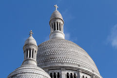 圆顶上面, Sacre-Coeur大教堂,蒙马特 巴黎 免版税库存图片