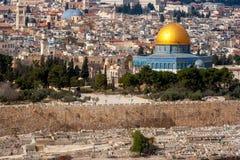 圆顶以色列耶路撒冷岩石 图库摄影