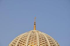 圆顶全部清真寺qaboos苏丹 免版税库存图片