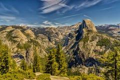 圆顶半国家公园优胜美地 库存图片