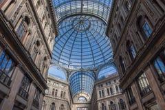 圆顶场所翁贝托我在那不勒斯,意大利 库存图片