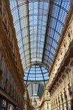 圆顶场所维托里奥埃马努埃莱II,米兰意大利 免版税库存图片