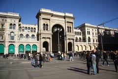 圆顶场所维托里奥Emanuele II在米兰 免版税图库摄影