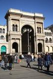 圆顶场所维托里奥Emanuele II在米兰 图库摄影