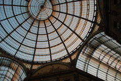 圆顶场所维托里奥Emanuele II 库存图片