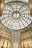 圆顶场所Vittorio Emanuele购物中心在米兰 库存照片