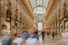 圆顶场所Vittorio Emanuele购物中心在米兰 免版税库存照片