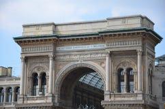 圆顶场所Vittorio Emanuele II -米兰 免版税库存照片