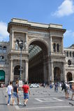 圆顶场所Vittorio Emanuele II -米兰 库存图片
