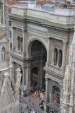 圆顶场所Vittorio Emanuele II -米兰 库存照片
